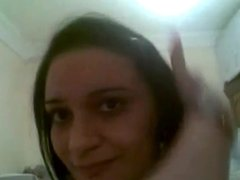 Arab Girl showing Big Natural Tits in Cam