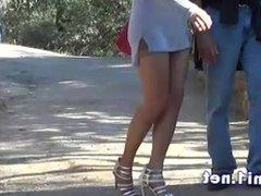 naomi in a public park, blowjob