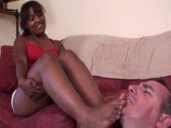 Ebony nasty gym feet