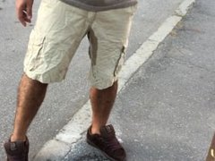Pissing my pants in a public street