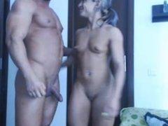 Beautiful Bodybuilders Teasing on Web-cam /No sex /No sound