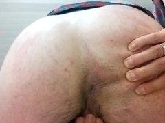 Closet gay finger fucks his bubblebutt