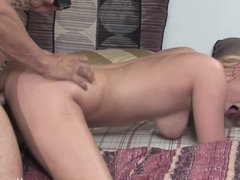 Vanessa gets her wet pussy fucked on the bed