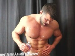 Alpha smoking hunk dominates with poppers bre