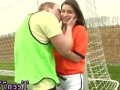 Blonde teen glasses anal full length Dutch football player torn up by
