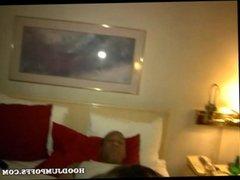 EBONY BBW SLUT WITH HUGE BOOTY GETS GANGBANG BY 2 BLACK GUYS IN HOTEL