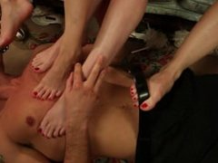 The Reverse Gangbang Foot Fetish Compilation (Many Feet 1 Cock) w/Cumshots