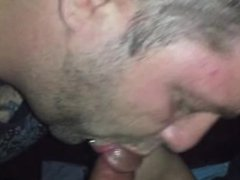 Latino blind folds me, cums on my face and spits on me