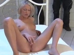 german blonde girl DP