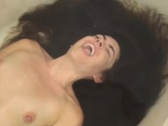 long hair underwater masturbation