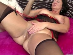Daughter in bed with hot mature mother