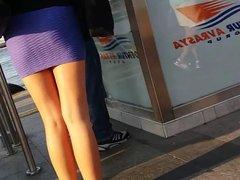 Nice Ass in Mini-Skirt