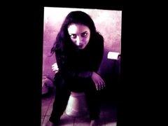Alexandra Hulett on a toilet cum tribute