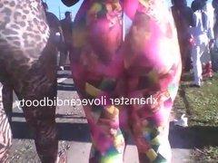 Candid ebony apple skin tight leggings(lost footage)