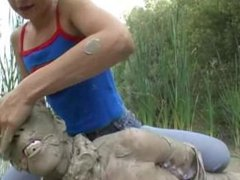 Ines Gives Jaqueline a Mud Bath