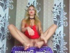 Sonya Durganova flexy improvisation in red dress