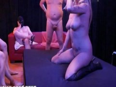 Bitch Arabella gets fucked by a group of men - part 1