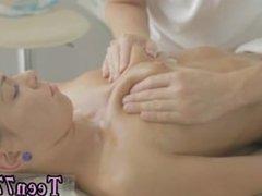 Ebony lesbian mature teen Massage completes up in sex