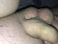 Young boy plans with cock and gets hard