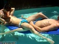 Black men shaped bare ass gay first time Ayden, Kayden & Shane - Pooltime