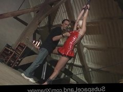 Sub slave perverse humiliation fucked drilled with bdsm cum