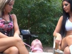 Mean Girls Christina & Madison use cuck as an ashtray