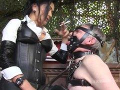 Mistress Pascal-Black Leather Smoker