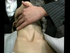 Playing with hot Japanese woman's neck 2