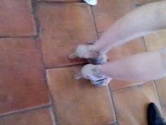 Friend's feet in high heels