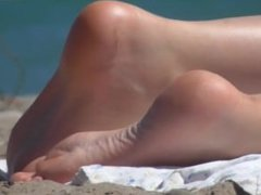 (CANDID) - Sweaty soles at the beach