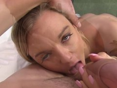 Molly licks stepdads ass and rides his cock