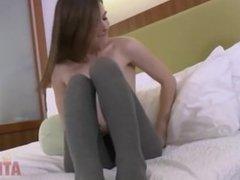 Masturbation in Strumfhose und high heels