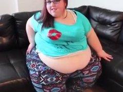 Ssbbw weigh in belly play