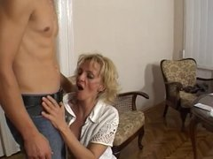 Old & Young - mom fucks on delivery boy