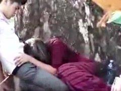 Myanmar couple in the park