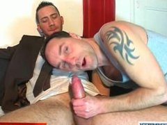 A nice innocent vendor guy serviced his big cock by a guy!