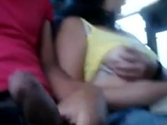 Public bus.. flashing.. boobs dick pussy