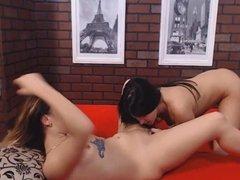 Two Smoking Hot Naked Girls Having A Lesbian Sex