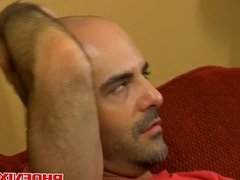 Handsome daddy nailed by a horny twink