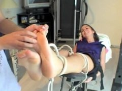 French Tickling - Eva Tickled On A Board