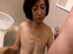 Jap granny censored