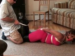 Enchantress Sahrye Tied & Gagged in Bodysuit & Thigh Boots (Tied in Heels)