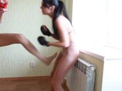 Pantyhose Cuntbusing Boxing