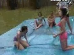 female v female oil wrestling 6