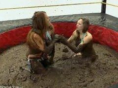 Sara Liz, Samantha Grace (2) mud wrestling