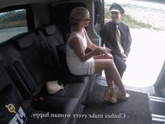 FuckedInTraffic - Czech blondie rides hard cock in the backseat of the car