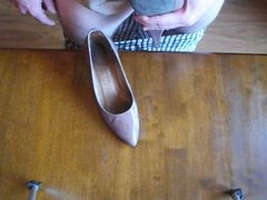 Cum on wife's friend's shoes again