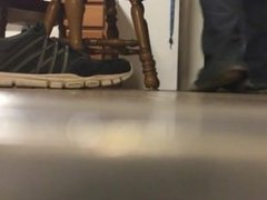 Giant makes tiny worship his shoes, socks, and bare feet