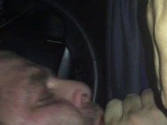 sucking off uncut DL Colombian cock in his car
