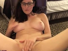 Busty Brunette in Glasses gets Dirty on Cam